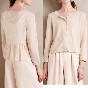 Anthropologie Knitted & Knotted Afterword Lace Bac
